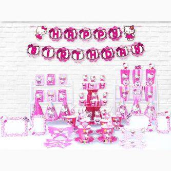 Bộ phụ kiện trang trí sinh nhật mèo Kitty