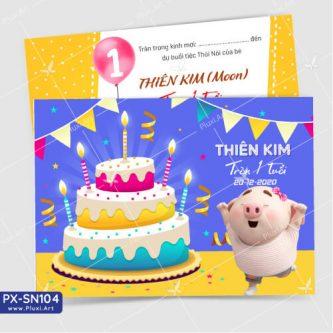 Thiệp sinh nhật - Thiệp thôi nôi