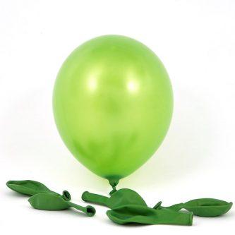 Metallic Green Latex Balloons Pack Of 6 A